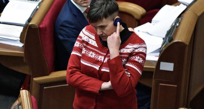Deputowana do Rady Najwyższej Nadieżda Sawczenko