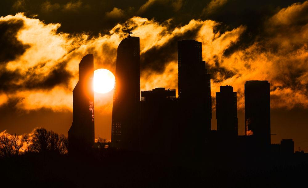 Świt nad moskiewskim City