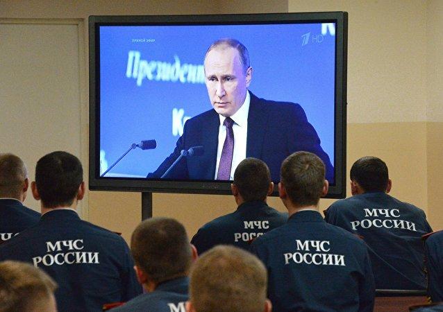 Doroczna konferencja prasowa Władimira Putina na żywo w regionach Rosji
