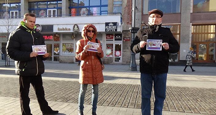Przeciwdziałanie Rusofobii. Świąteczna akcja w Łódzi.