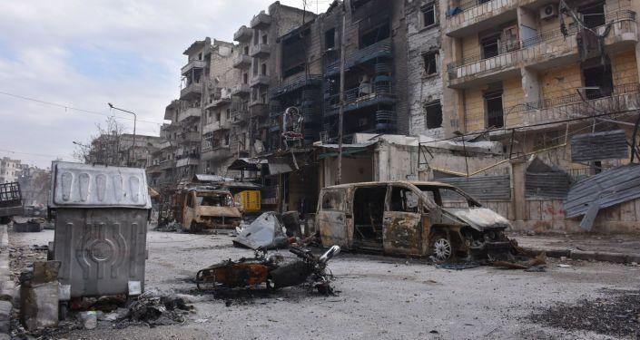 Разрушенные здания в освобожденном Алеппо