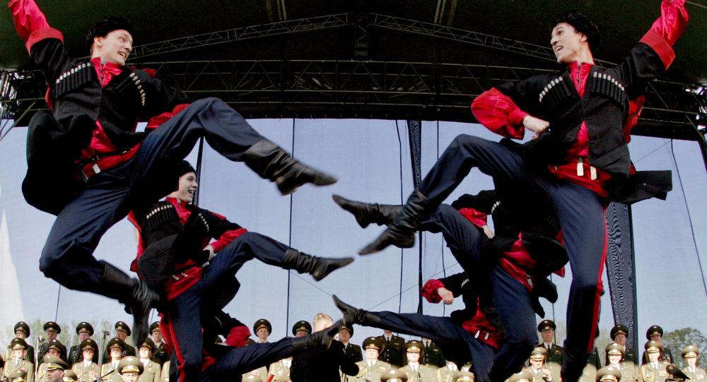 Chór Aleksandrowa podczas występu na Słowacji