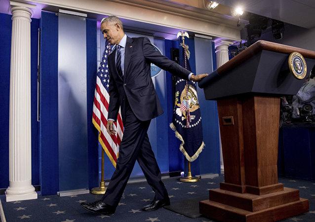 Prezydent USA Barack Obama w Białym Domu
