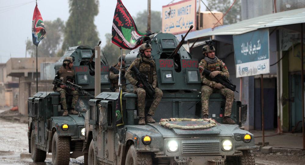 Irackie wojska rządowe na wschodzie Mosulu