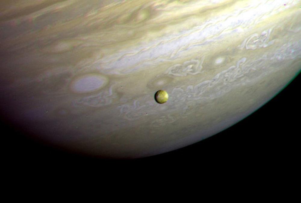 Fotografia południowej półkuli Jowisza, wykonana przez Voyager-2 25 czerwca 1979 roku z odległosci 12 milionów kilometrów.