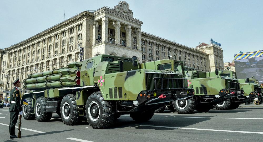 Technika wojskowa Ukrainy na paradzie w Kijowie z okazji Dnia Niepodległości Ukrainy