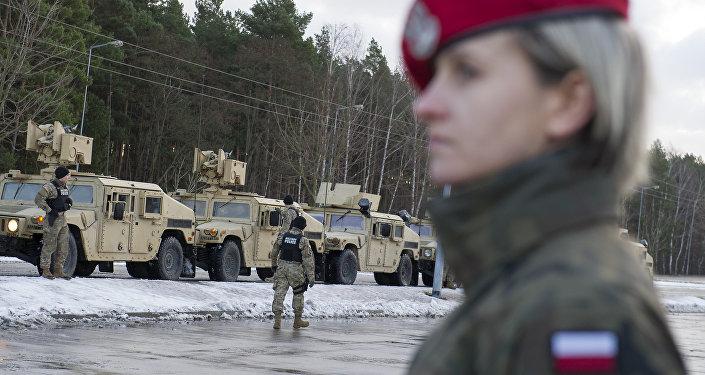 Powitanie amerykańskich wojsk w Polsce, Olszyna, 12 stycznia 2017