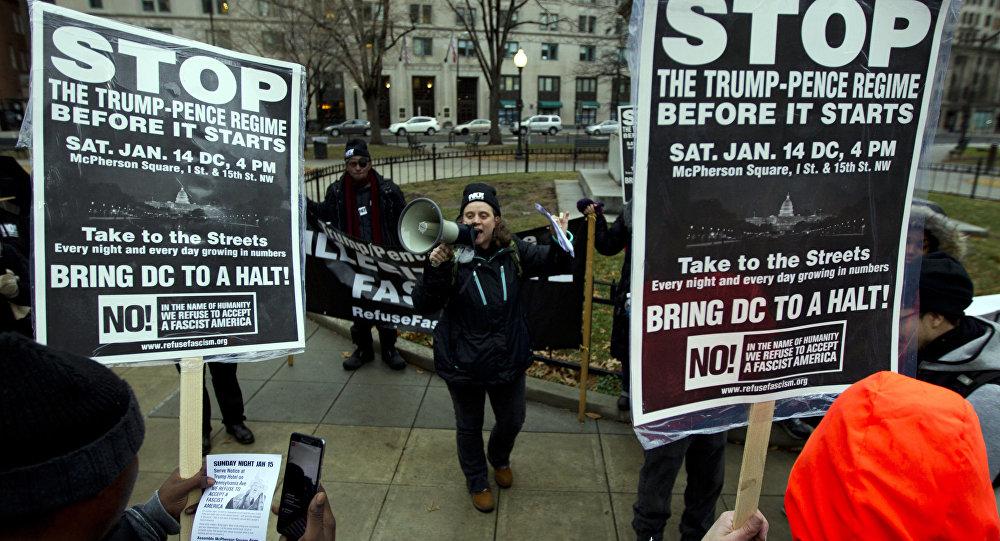 Amerykanie protestują przeciwko inauguracji Donalda Trumpa