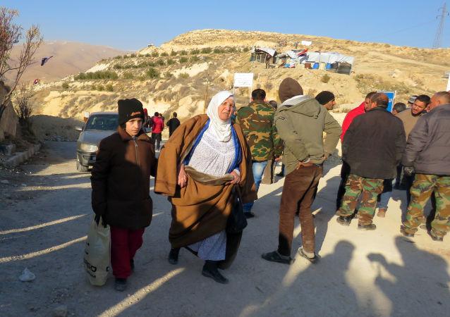Punkt wojskowy w dolinie Wadi Barada na zachód od Damaszku