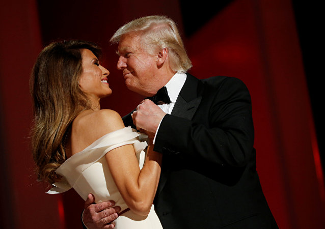 Donald i Melania Trump na balu inauguracyjnym