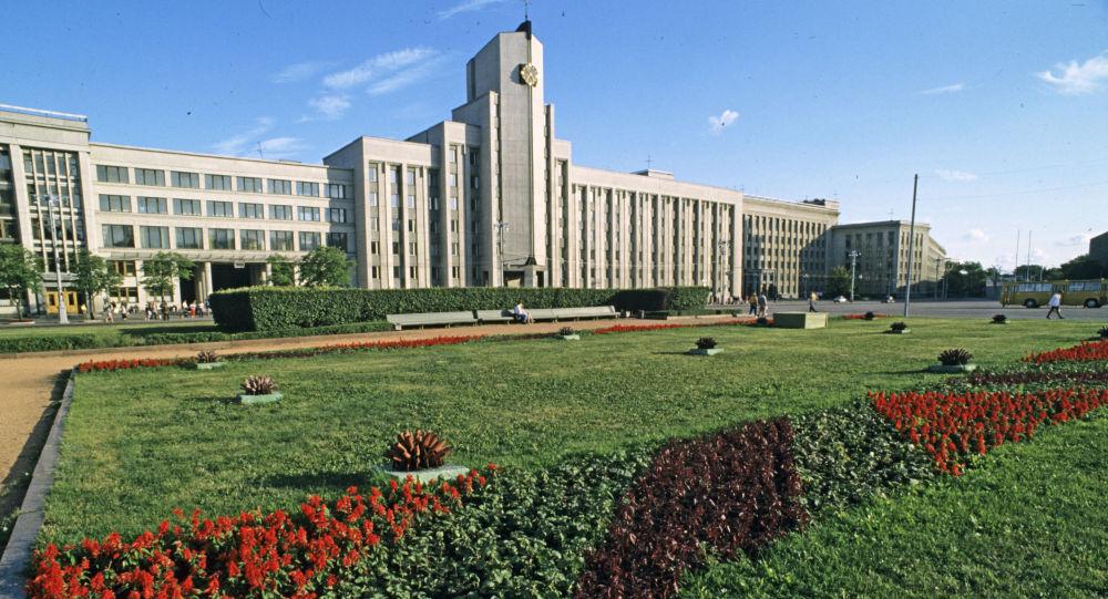 Budynek parlamentu Republiki Białorusi w Mińsku