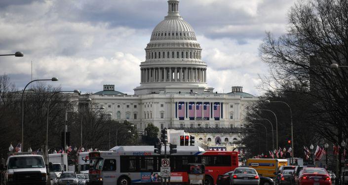 Widok na Kapitol w Waszyngtonie