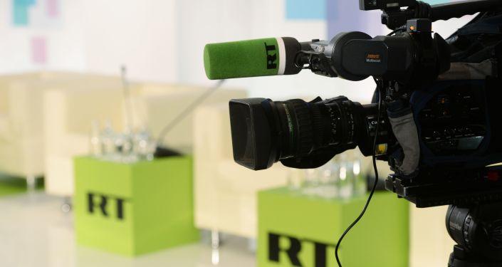 Телекамера на конференции RT. Архивное фото