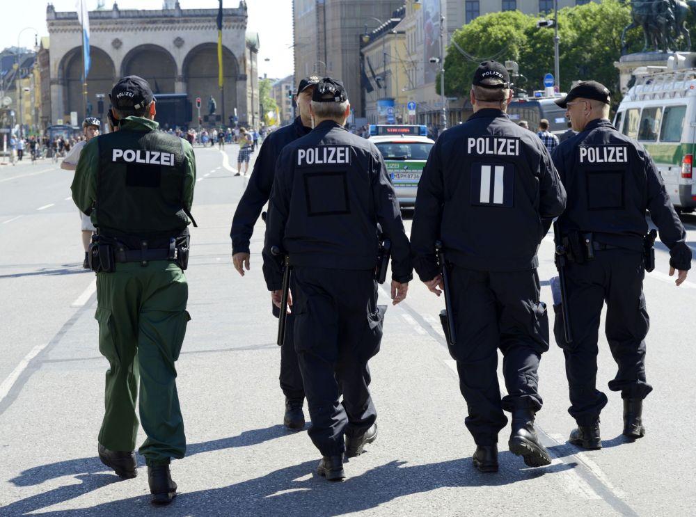 Policja na ulicach Monachium.