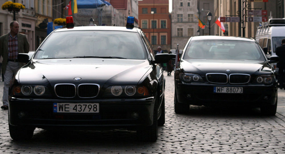 Samochody funkcjonariuszy BOR-u