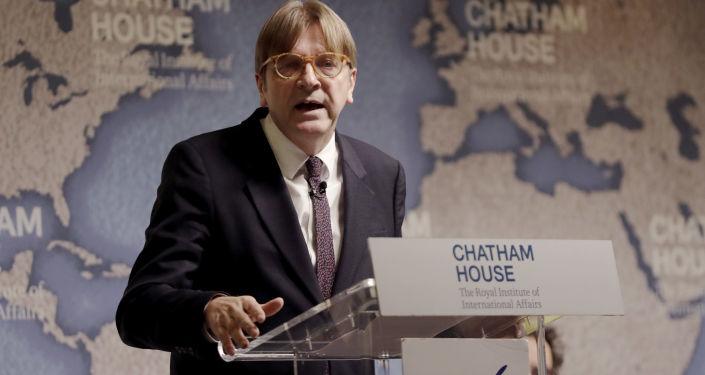 Przedstawiciel Parlamentu Europejskiego w negocjacjach w sprawie wyjścia Wielkiej Brytanii z UE Guy Verhofstadt