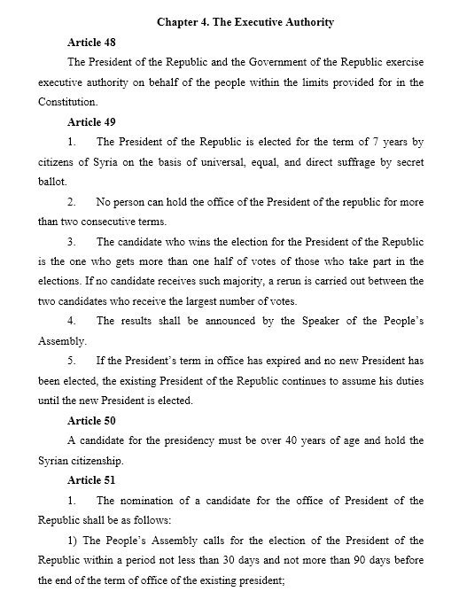 Projekt Konstytucji Syrii