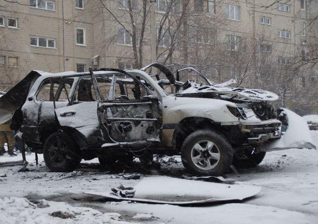 Wybuch samochodu kierownika zarządu Milicji Ludowej ŁRL Olega Anaszczenko
