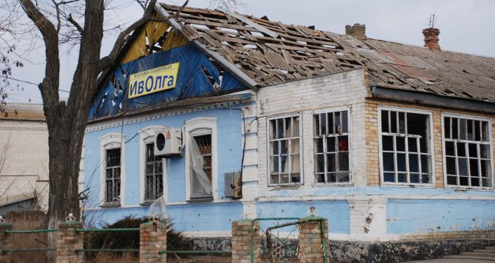 Sklep w wiosce Kominternowo w obwodzie donieckim