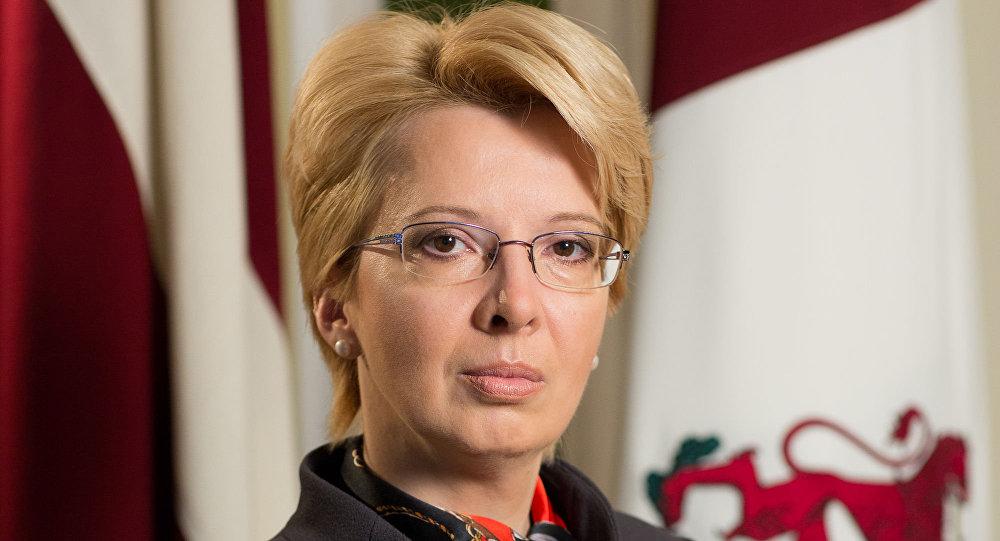 Przewodnicząca łotewskiego Sejmu Ināra Mūrniece