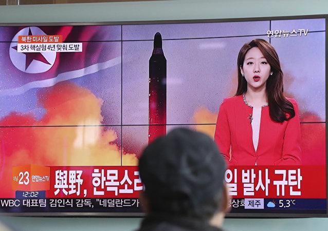 Korea Północna w niedzielę rano czasu lokalnego wystrzeliła pocisk balistyczny w kierunku Morza Japońskiego