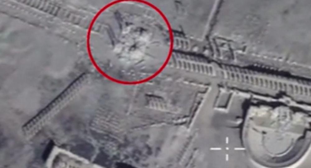 Zniszczona przez terrrorystów Palmira, zdjęcie MO Rosji