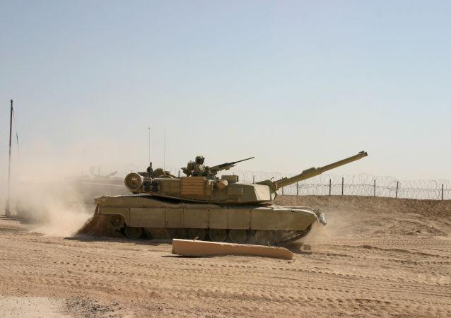 Amerykański czołg w Iraku