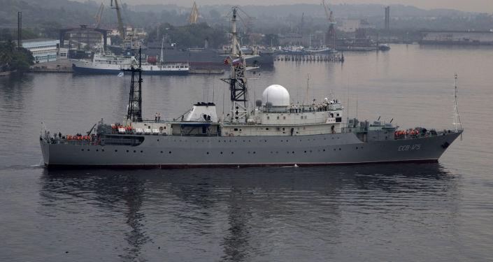 """Okręt rozpoznania radioelektronicznego SSW-175 """"Wiktor Leonow"""