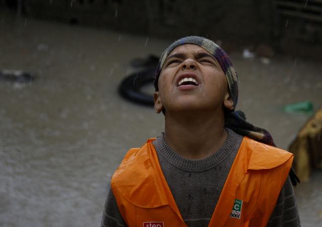 Ulewne deszcze w Palestynie