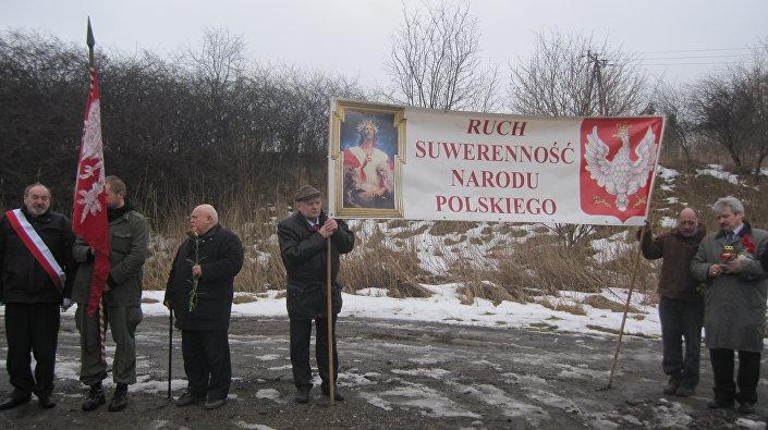Uroczystość upamiętniająca śmierć generała Iwana Czerniachowskiego w Pieniężnie, 18.02.2017r.
