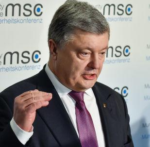 Prezydent Ukrainy Petro Poroszenko na 53. Monachijskiej Konferencji Bezpieczeństwa