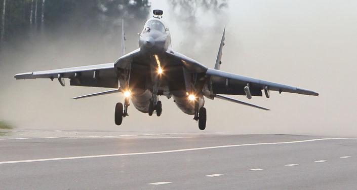 Samolot MiG-29 białoruskich sił powietrznych