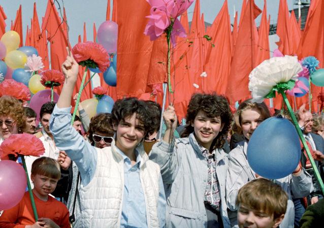 Obchody 1 maja w Moskwie