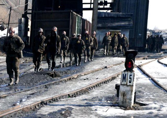 Pracownicy w kopalni im. Kirowa zakładu państwowego Makiejewugol