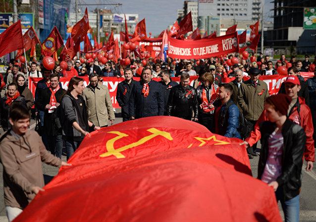 Demonstracja pierwszomajowa w Rosji