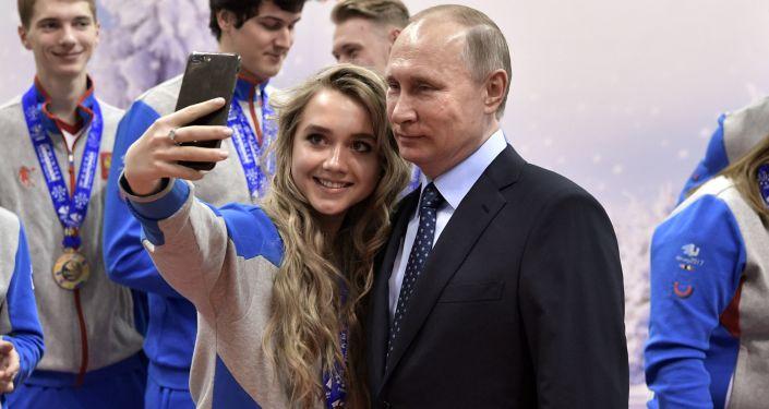 Selfie z prezydentem Putinem