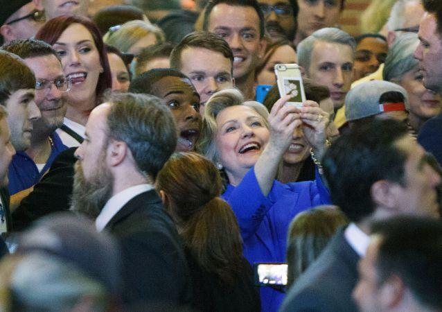 Hillary Clinton podczas kampanii wyborczej