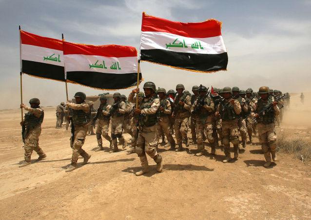 Irakijscy żołnierze w Bagdadzie