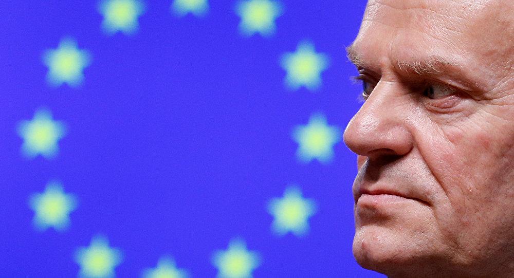 Przewodniczący Rady Europejskiej (RE) Donald Tusk
