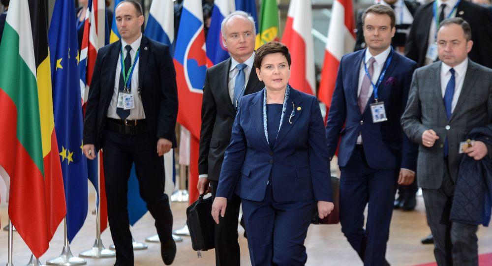 Polska premier Beata Szydło przed oficjalnym spotkaniem szefów państw i rządów krajów UE w Brukseli