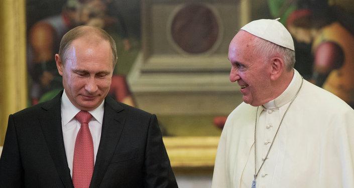 Władimir Putin i papież Franciszek