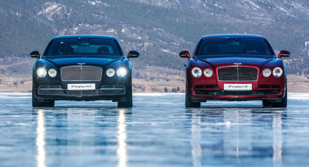 Bentleye na zamarzniętym Bajkale