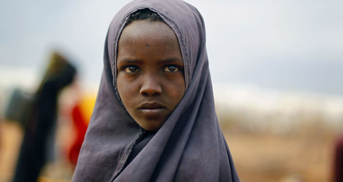 Somalijska dziewczynka w obozie ONZ na wschodzie Kenii