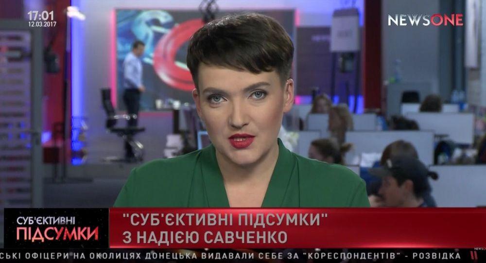 Nadieżda Sawczenko na antenie NewsOne