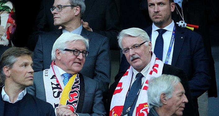 Mecz Polska-Niemcy, Euro 2016. Witold Waszczykowski i Frank Walter-Steinmeier