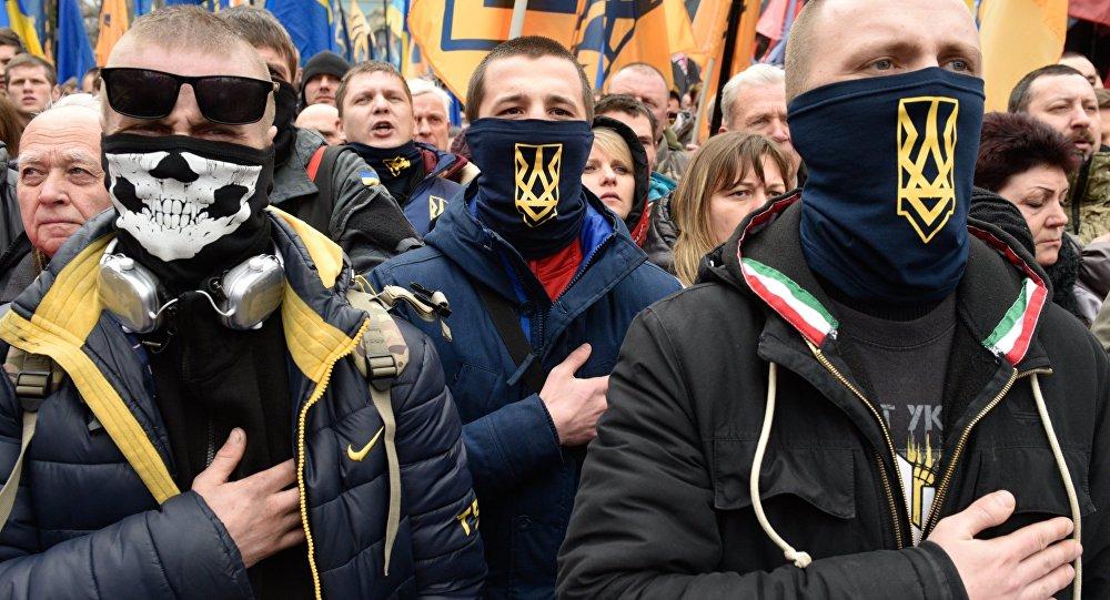 Ukraińscy nacjonaliści w Kijowie