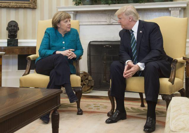 Spotkanie Donalda Trumpa z Angelą Merkel w Nowym Jorku