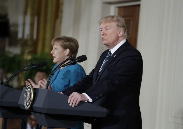 Spotkanie Donalda Trumpa z Angelą Merkel