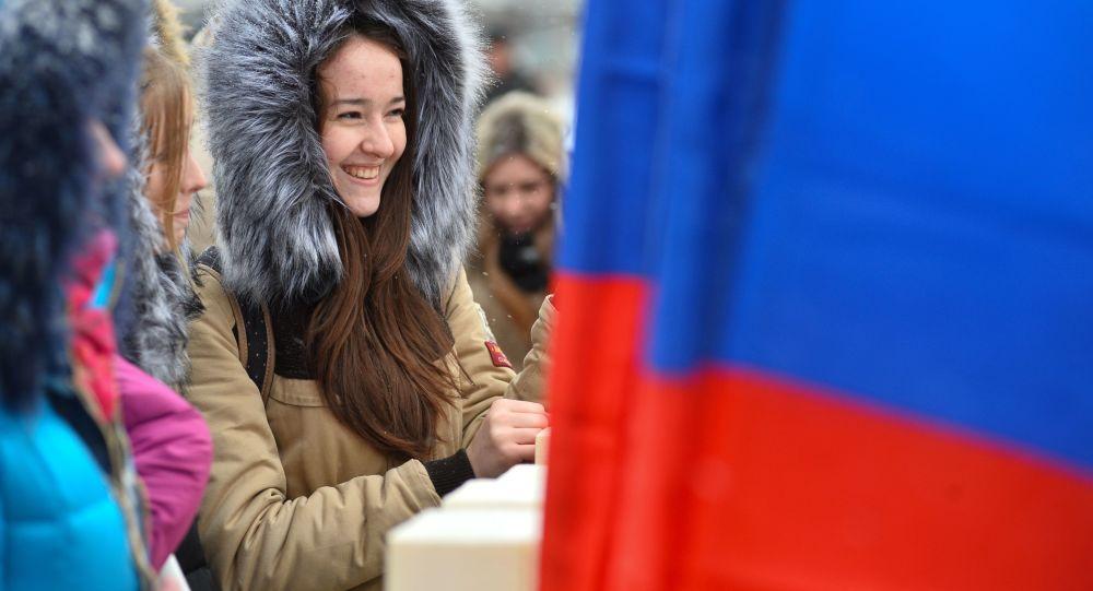 Uśmiechnięta Rosjanka