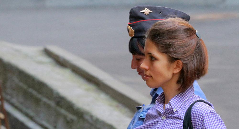 Była członkini rosyjskiej grupy Pussy Riot Nadieżda Tołokonnikowa